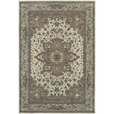 Oriental Weavers Pasha 5991D Ivory and Grey